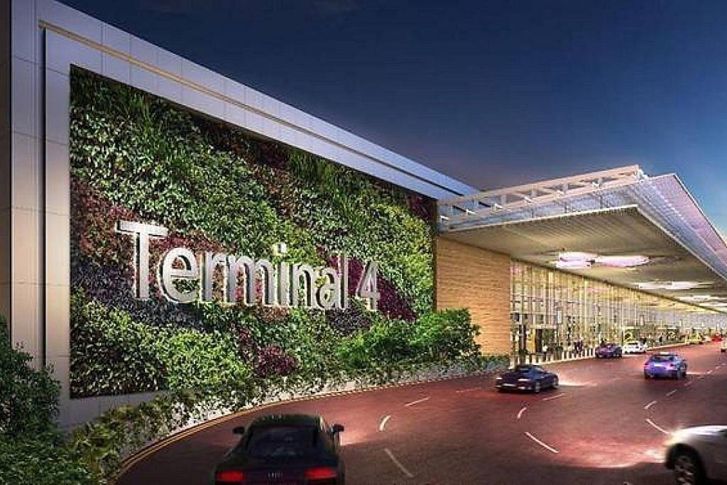 Terminal 4 Lapangan Terbang Changi sudah dapat sewakan lebih 80 kedai