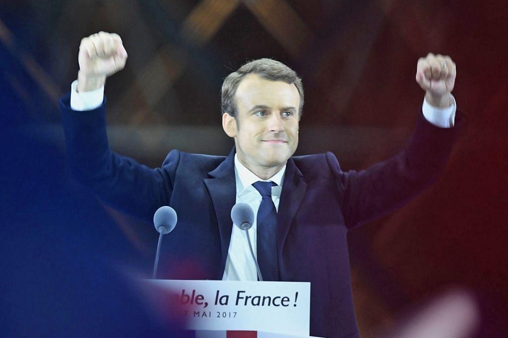 Macron presiden muda Perancis