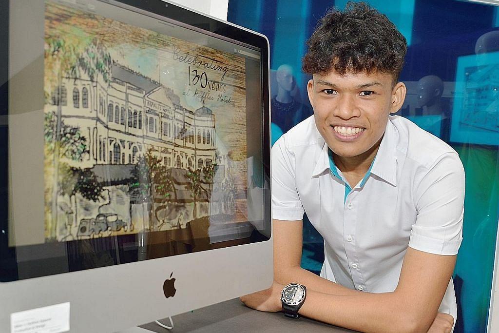 Mengimbas sejarah silam Raffles Hotel... hanya dengan pena digital dan tablet