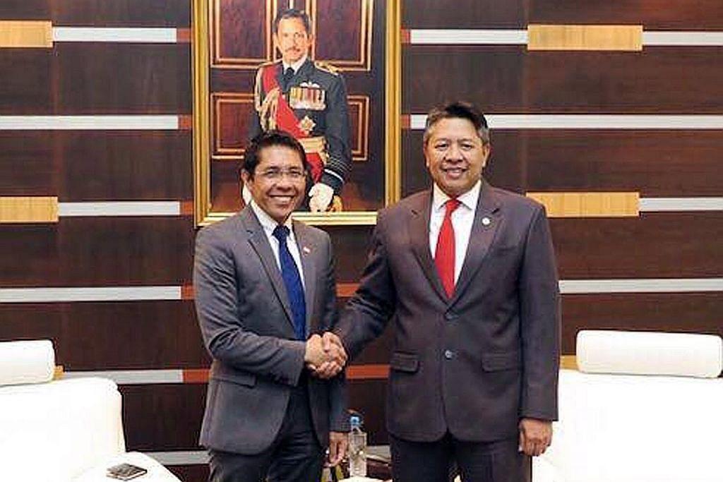 Pertemuan perkukuh kerjasama pertahanan S'pura-Brunei
