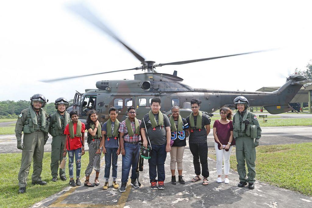 7 pelajar naik helikoper saksi latihan NDP