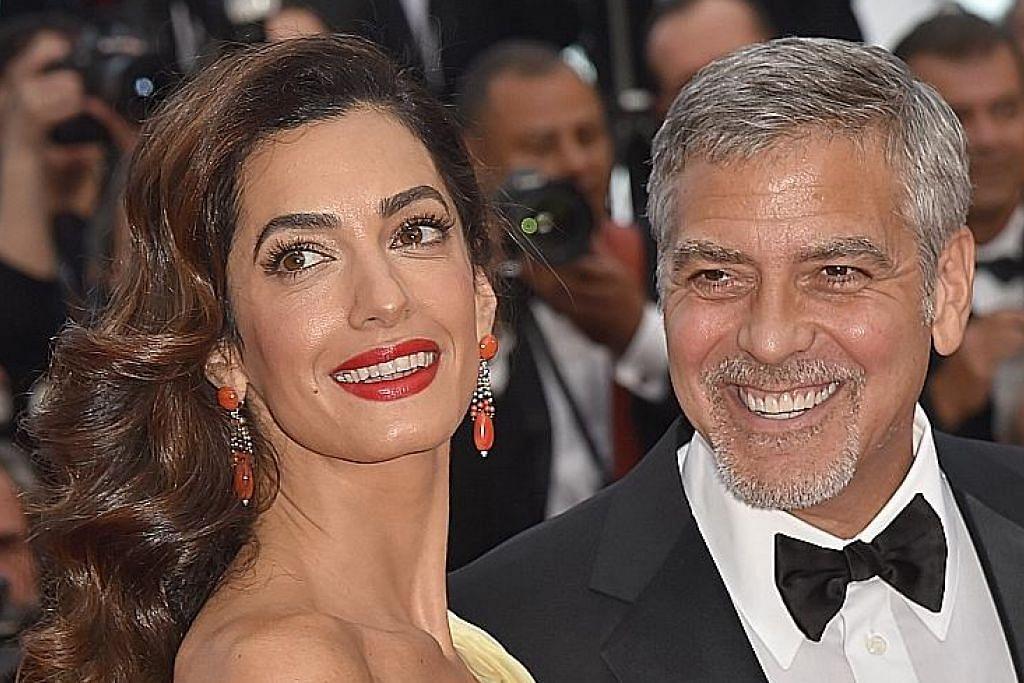 Clooney batal misi kemasyarakatan, sambut anak kembar