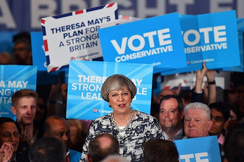 PILIHAN RAYA BRITAIN Tekanan bagi May, tetapi diramal menang kecil