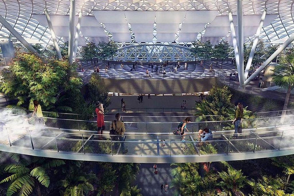 'Hilang' dalam keseronokan 'maze' di Taman Canopy Jewel Changi