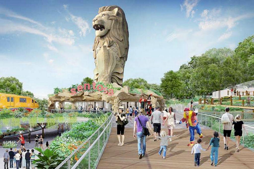 Kawasan Merlion Gateway Sentosa akan dibangun semula