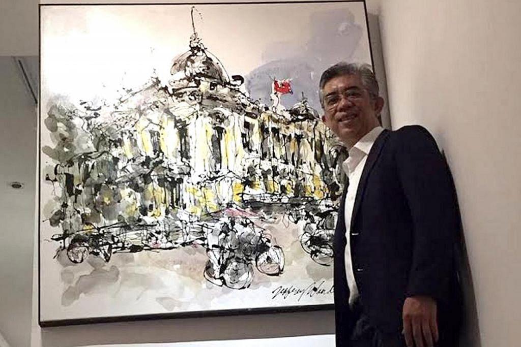 Abadikan bangunan warisan Hanoi pada lukisan