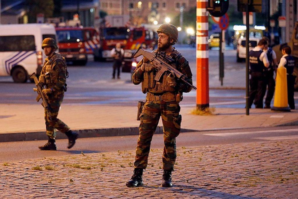 Lelaki cuba letupkan diri di stesen kereta api Belgium