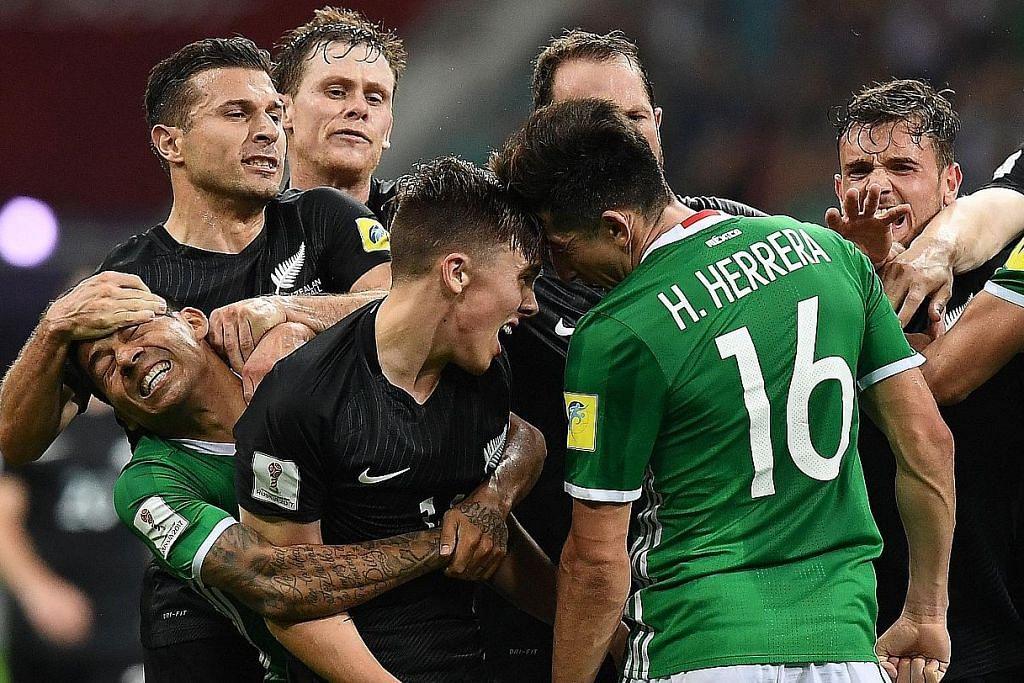 Insiden gaduh cemari kejayaan Mexico atasi NZ