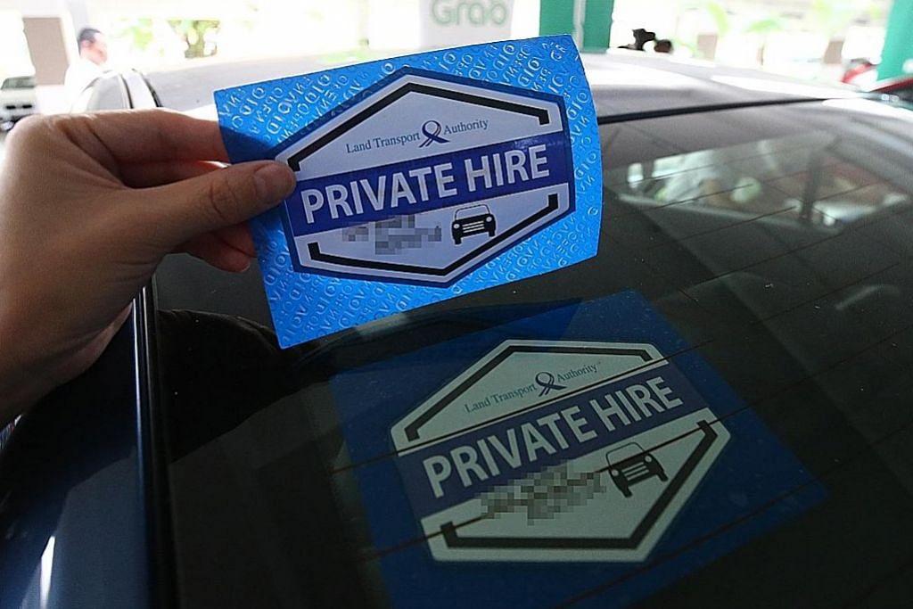 Pelekat tingkat keyakinan penumpang Grab, Uber