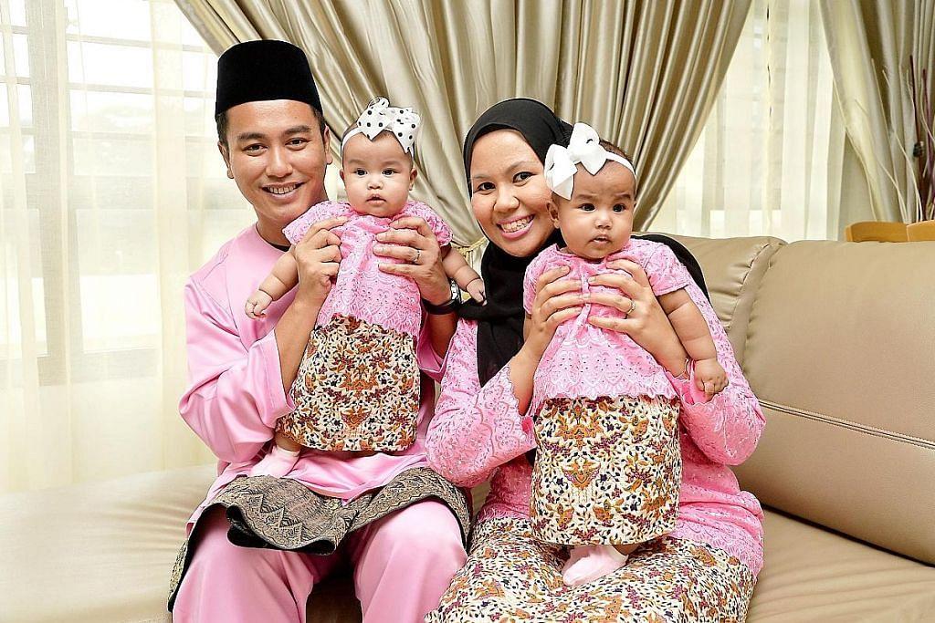 Nikmati Aidilfitri pertama bersama anak kembar