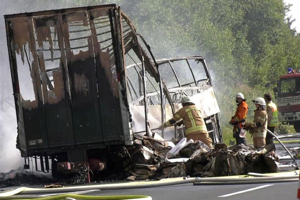 18 maut akibat nahas jalan raya paling buruk di Jerman