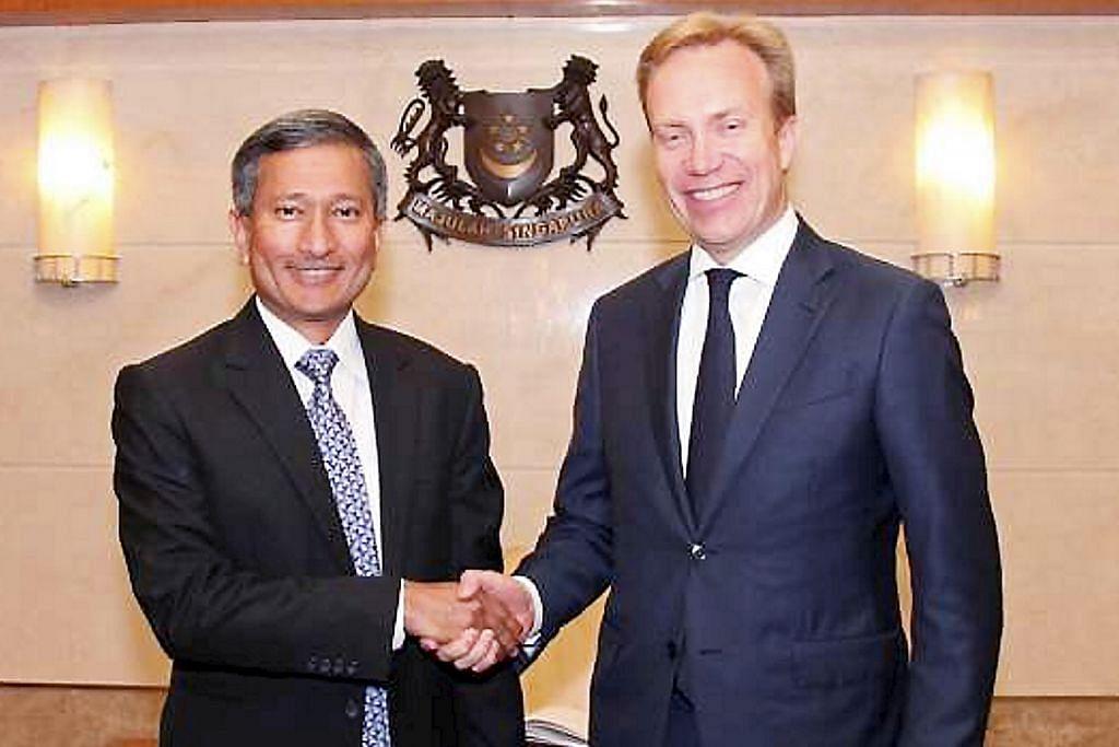 Menteri Luar Norway temui pemimpin S'pura