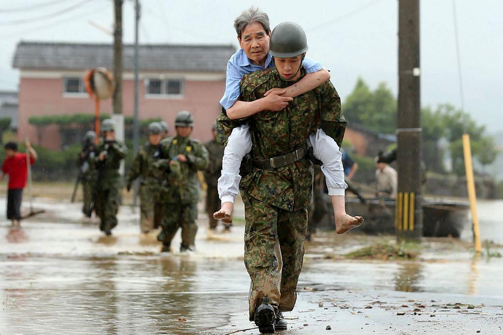 15 hilang dalam banjir di Jepun