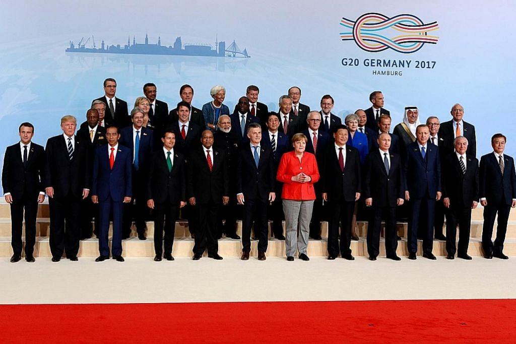 Merkel alu-alukan kehadiran pemimpin dunia