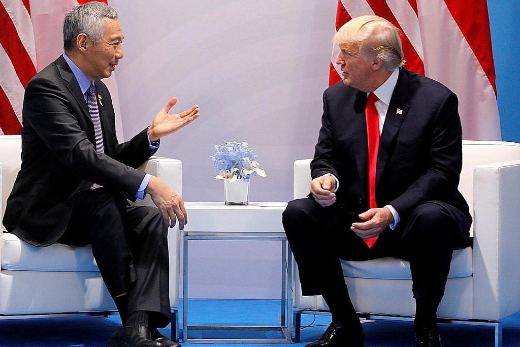 PM Lee temui Trump di Jerman