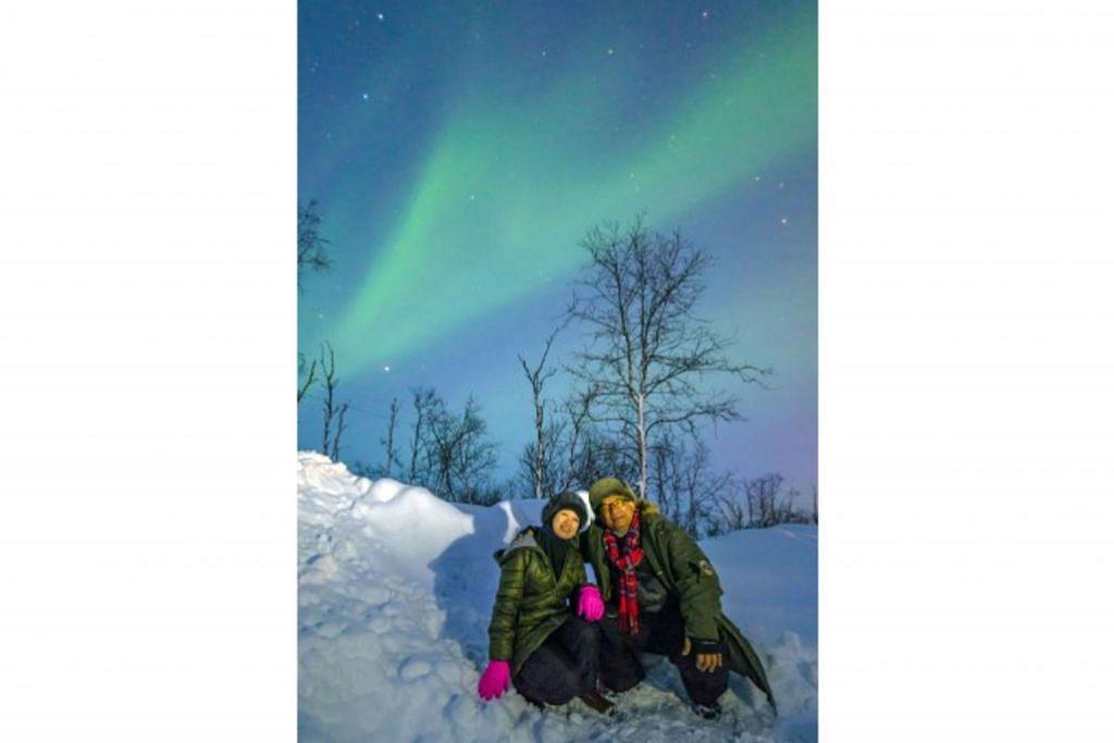 Mengejar aurora di Norway
