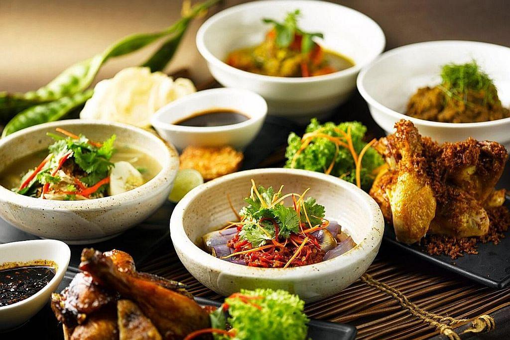 Restoran Indonesia guna herba dari taman sendiri