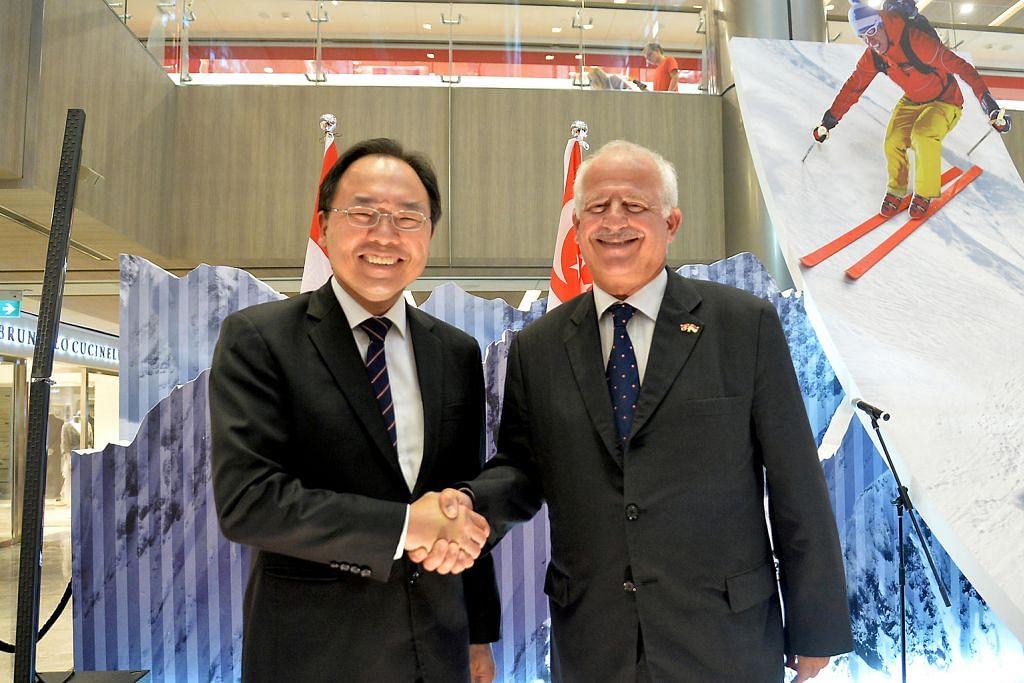 S'pura, Switzerland rai hubungan diplomatik 50 tahun