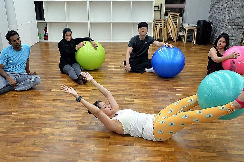Lepaskan kerja pengurus projek binaan bagi mesrakan masyarakat dengan 'pilates'