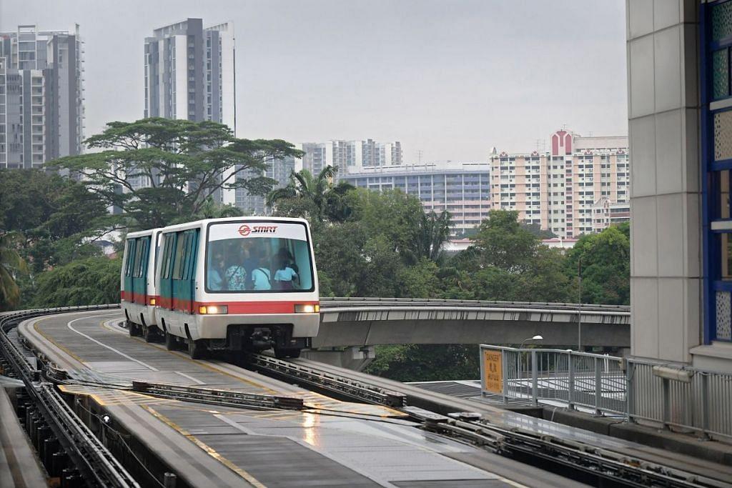 PERJALANAN LANCAR: Pengguna laluan LRT Bukit Panjang boleh menjangkakan perjalanan lebih lancar mulai 2022.