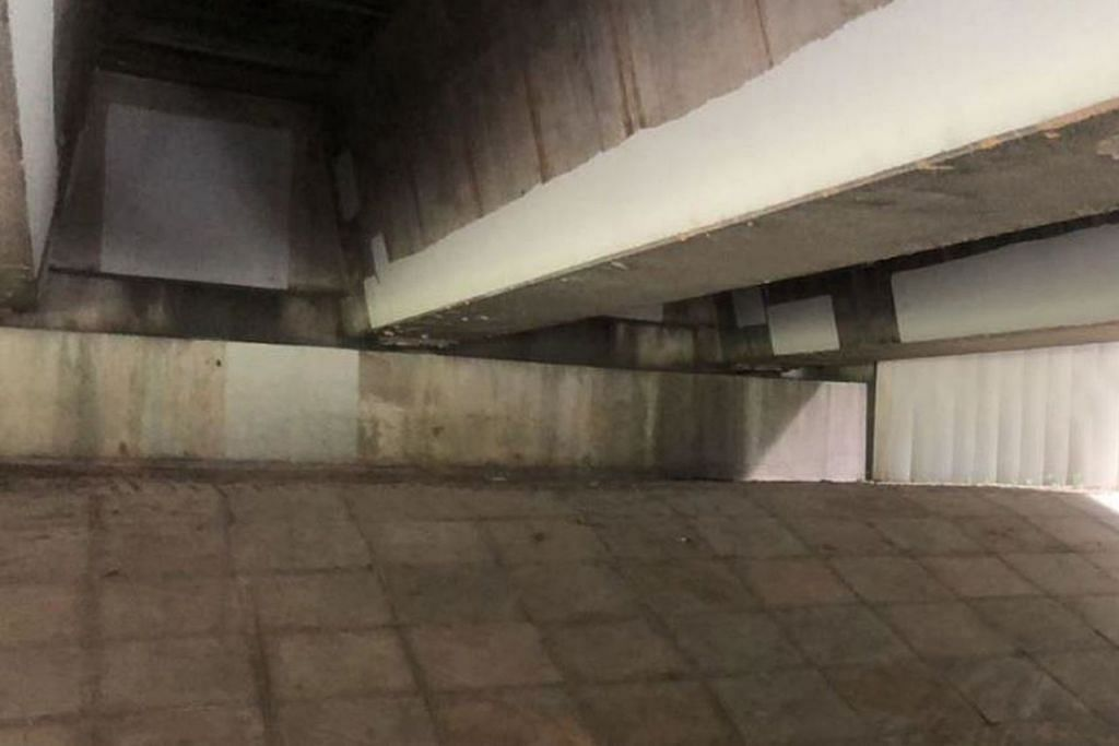 DITAHAN DI BAWAH JAMBATAN: Inilah lokasi jambatan di Punggol Promenade Riverside Walk di mana pegawai CNB memberkas ketua sindiket dadah. - Foto CNB