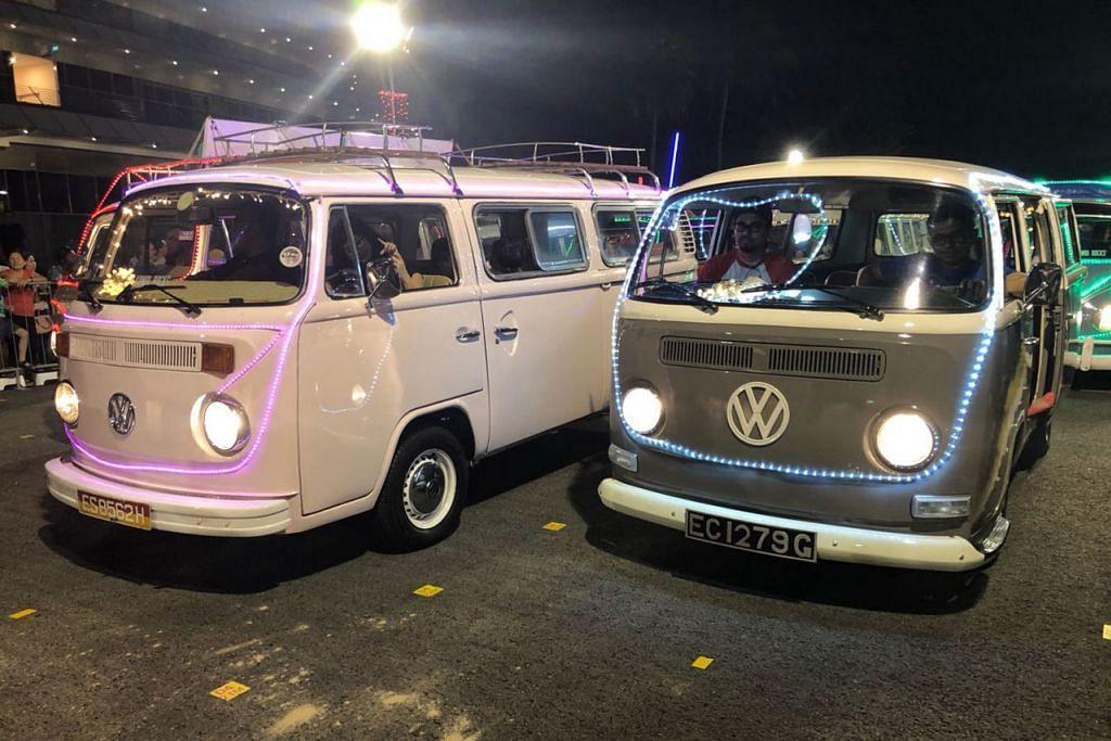 VAN RETRO: Menurut penerbit, Haryani Othman, sebanyak lima van Volkswagen lama yang diubahsuai menjadi trak makanan akan menyerikan acara #kblivefest tahun ini yang bermula esok hingga Ahad ini di Downtown East D' Marquee di Pasir Ris.. – Foto KOMBI ROCKS / KASSIMBABA INTERNATIONAL