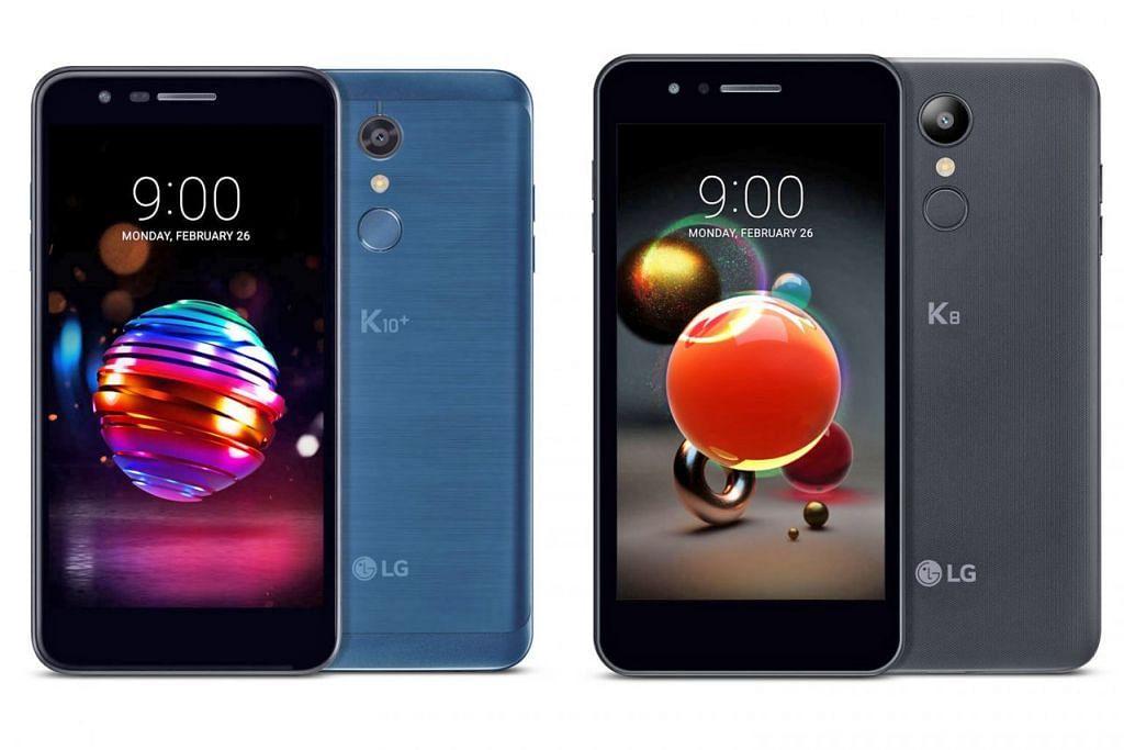TIGA WARNA BARU: Versi 2018 bagi telefon bijak K8 dan K10 ini boleh didapati dalam warna Aurora Black, Blue Morocco dan Terra Gold. - Foto LG