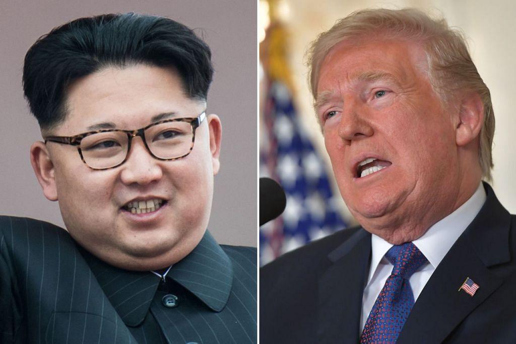 Encik Kim Jong Un (kiri) dan Encik Donald Trump (kanan)