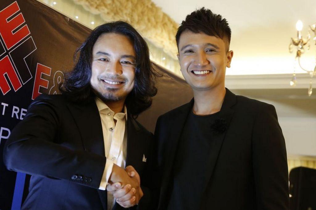 TERPAKSA DIBATAL: Konsert 'Sepetang Bersama Bintang – Anuar Zain' yang turut disertai Fauzie Laily (kanan) dan dijadualkan esok di Johor Bahru, dibatal. – Foto fail