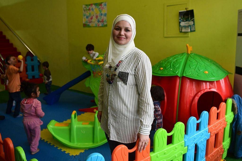 PELARIAN PELOPOR TAJAKA: Hasil usaha Cik Dania Abdulbaqi, jurutera awam yang datang ke Turkey dari Hama, Gaziantep mempunyai tajaka yang dibuka kepada kanak-kanak daripada semua warganegara. - Foto AFP