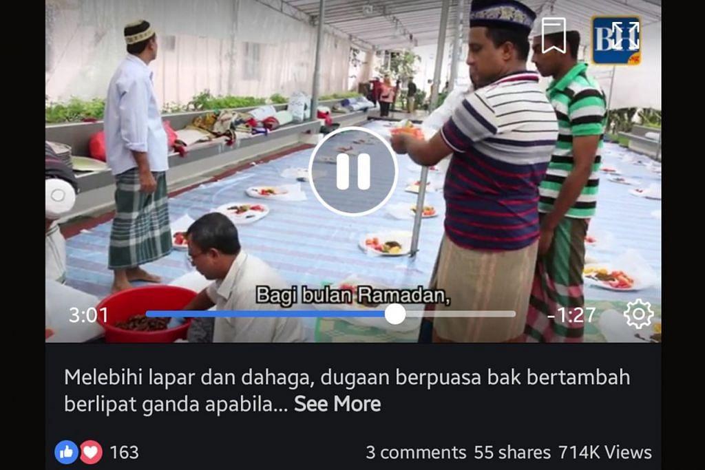 MASIH DITONTON: Video penuh inspirasi tentang khidmat pekerja Bangladesh di masjid setempat menjadi sorotan masyarakat. - Foto BH DIGITAL