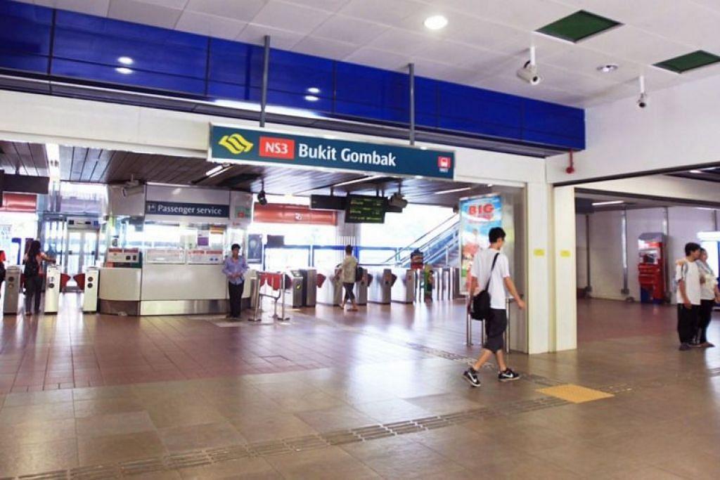 TUTUP AWAL: Stesen MRT Bukit Gombak ini merupakan antara tujuh stesen yang akan tutup awal sekitar 11 malam setiap Jumaat dan Sabtu sepanjang Julai.