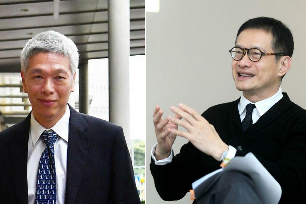 PERALIHAN PUCUK PIMPINAN: Encik Edmund Cheng (kanan) menggantikan Encik Lee Hsien Yang sebagai pengerusi Penguasa Penerbangan Awam Singapura (CAAS) mulai 1 Julai.