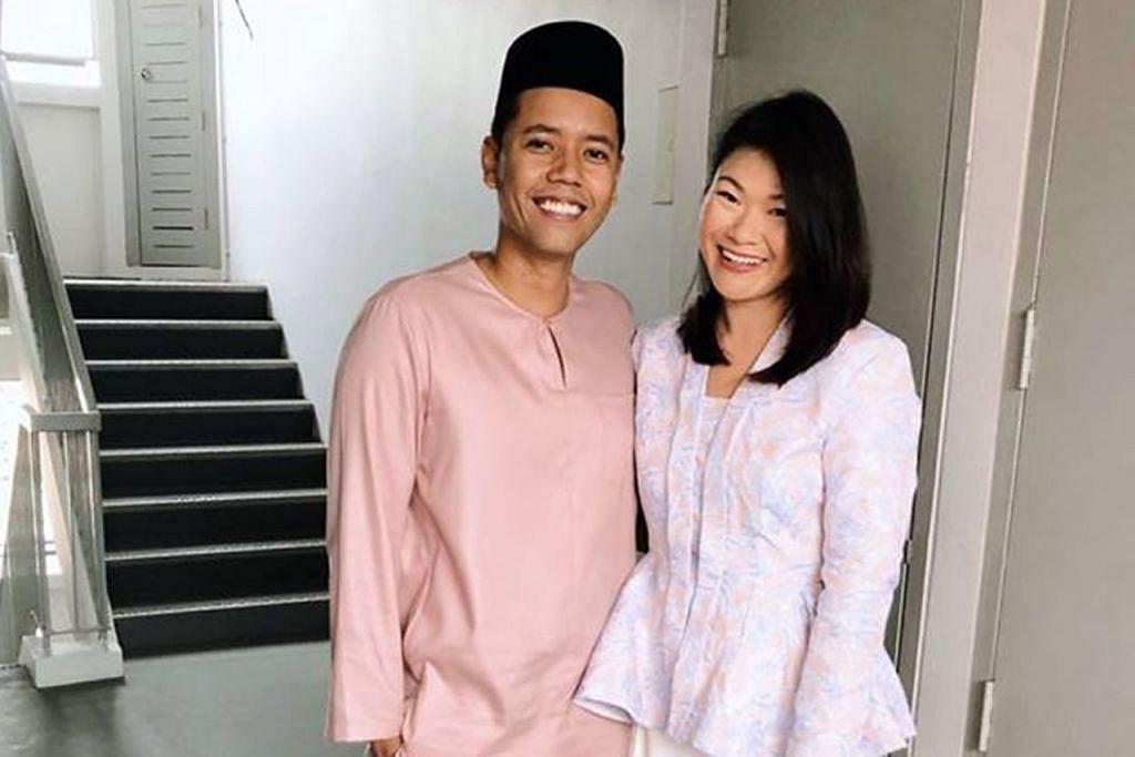 SELAMI BUDAYA: Encik Fitri Khamis dan Cik Sandy Cheng yang berkahwin pada 2016 seronok menyelami budaya dan tradisi satu sama lain sepanjang melayari bahtera perkahwinan bersama. - Foto ihsan FITRI KHAMIS