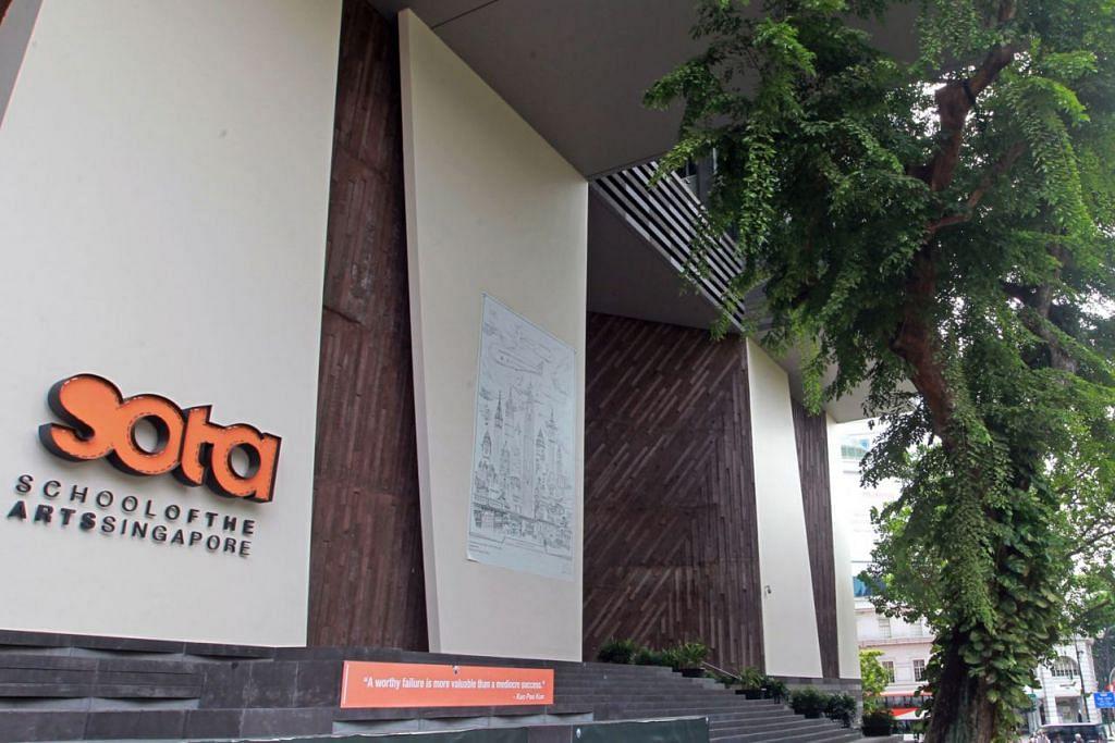 ANUGERAH PEMBANGUNAN SENI: Sekolah Seni Singapura (Sota) mahu memberi kanak-kanak dari keluarga berpendapatan rendah peluang menyertai program pengayaan seni. - Foto fail
