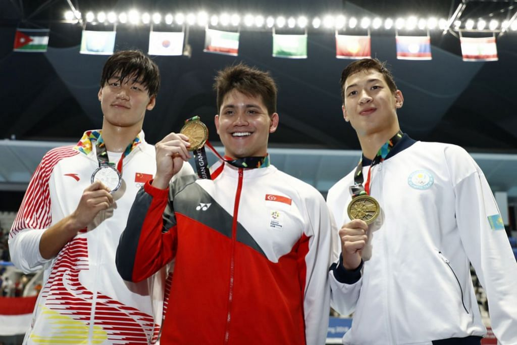 Asian Games: Joseph Schooling wins men's 50m fly in 23.61 seconds