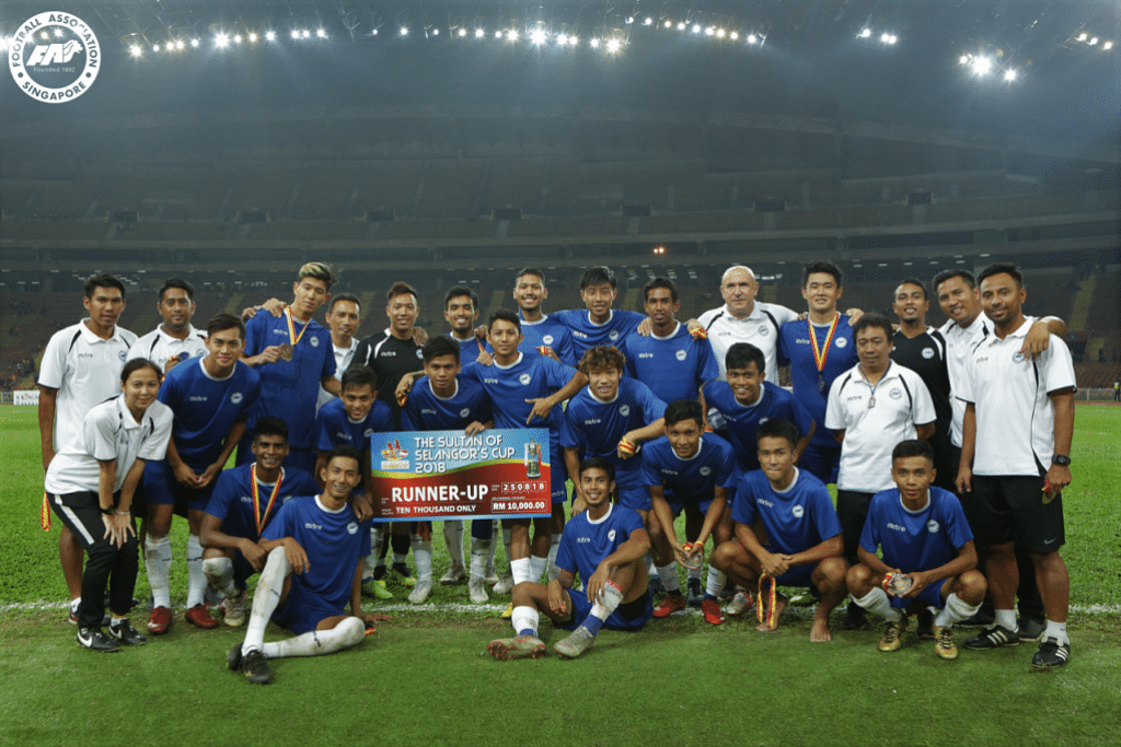 The Singapore Selection team pose for a photo after The Sultan of Selangor's Cup match on 25 Aug 2018