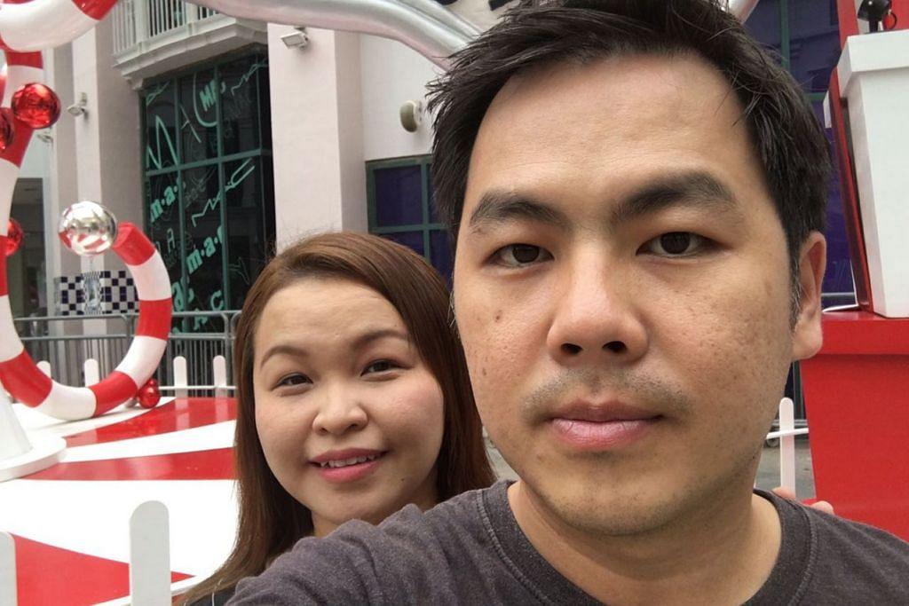 CEDERA TERUK: Cik Choo Yat Chiam dan suaminya, Encik Teh Tze Yong menuntut pampasan bagi rawatan perubatan mereka . - Foto fail