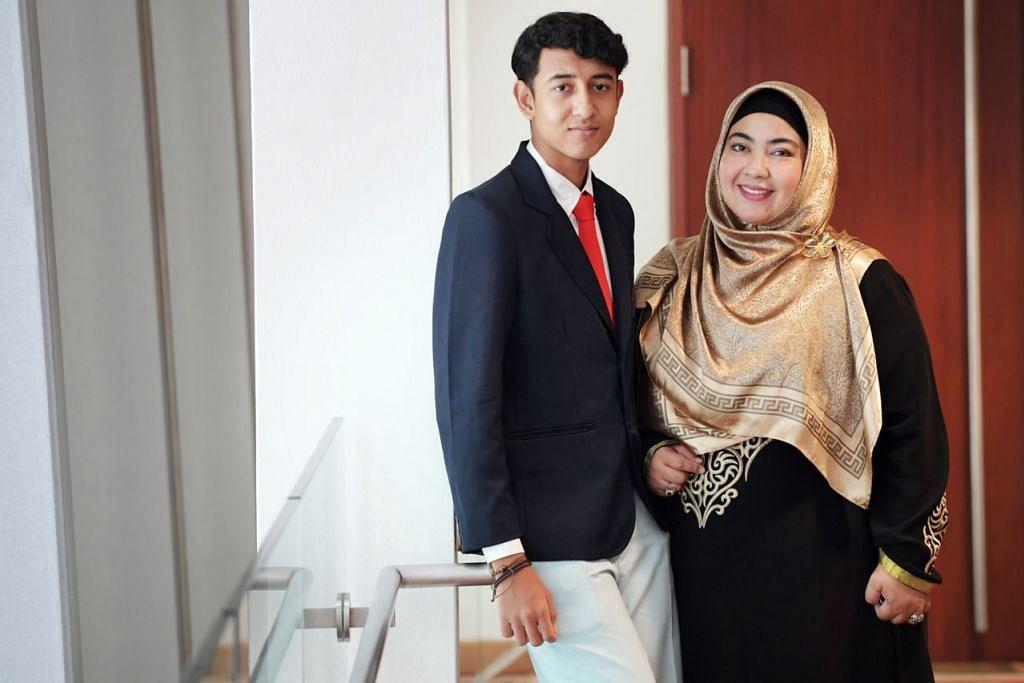 IBU JADI PENDORONG: Shakir meningkatkan prestasinya atas dorongan ibunya Cik Farhana Ibrahim. - Foto BH oleh Alphonsus Chern