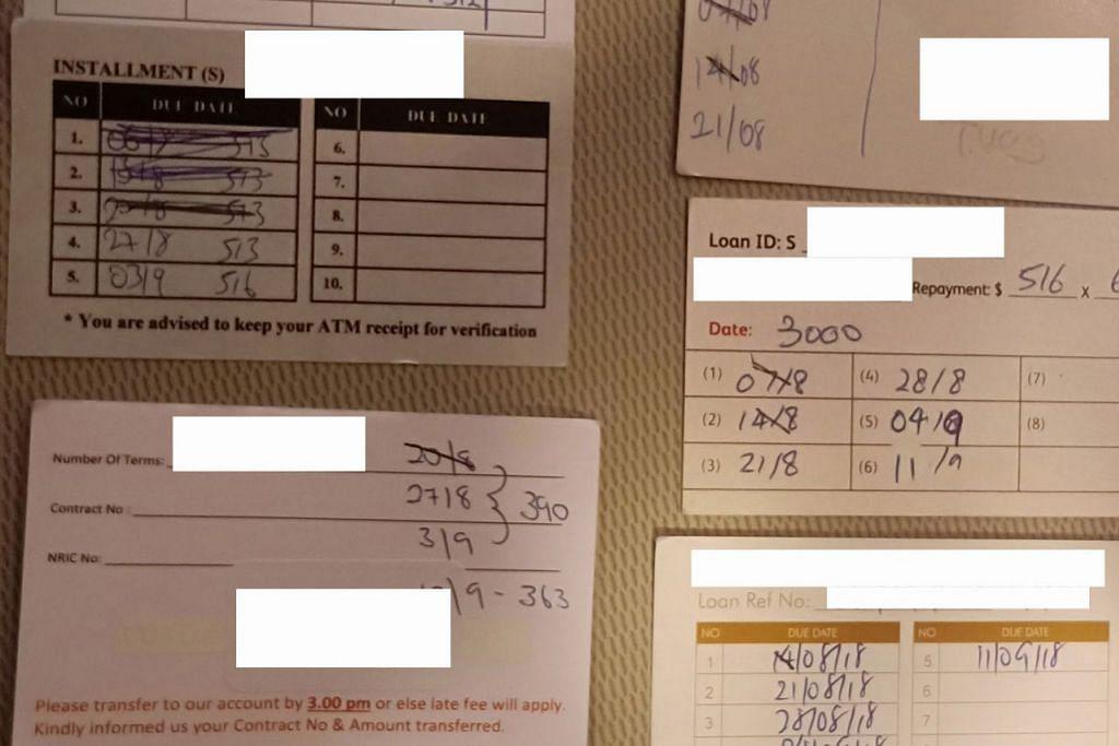LINTAH DARAT CERUT PEMINJAM: Kad-kad rekod hutang menunjukkan firma-firma kredit memaksa peminjam membayar balik hutang secara mingguan – sesuatu yang melanggar peraturan. – Foto-foto BM oleh SAINI SALLEH