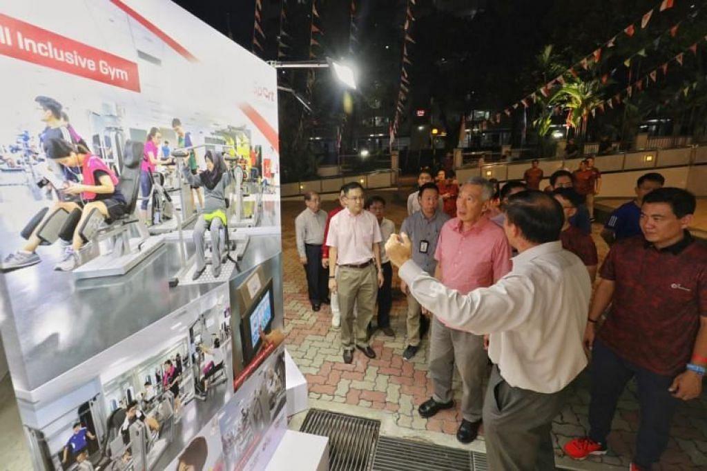 PM Lee, yang merajui GRC Ang Mo Kio, berkata estet itu mempunyai lebih ramai warga emas daripada kebanyakan bandar lain di Singapura.