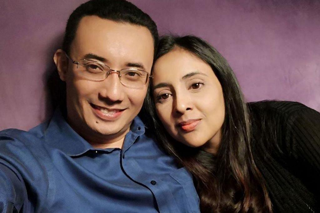 SUAMI ISTERI: Allahyarham Nazrin bersama isterinya, Samirah Muzaffar. - Foto FACEBOOK/SAMIRAH MUZAFFAR