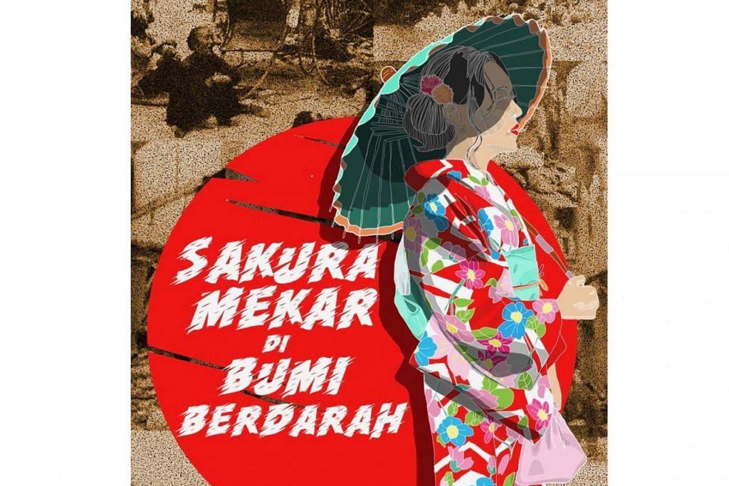 TINTA SEJARAH: Buku Sakura Mekar di Bumi Berdarah, terbitan Angkatan Sasterawan '50 memaparkan hasil sastera mengenai zaman penjajahan Jepun di Singapura. - Foto ASAS '50