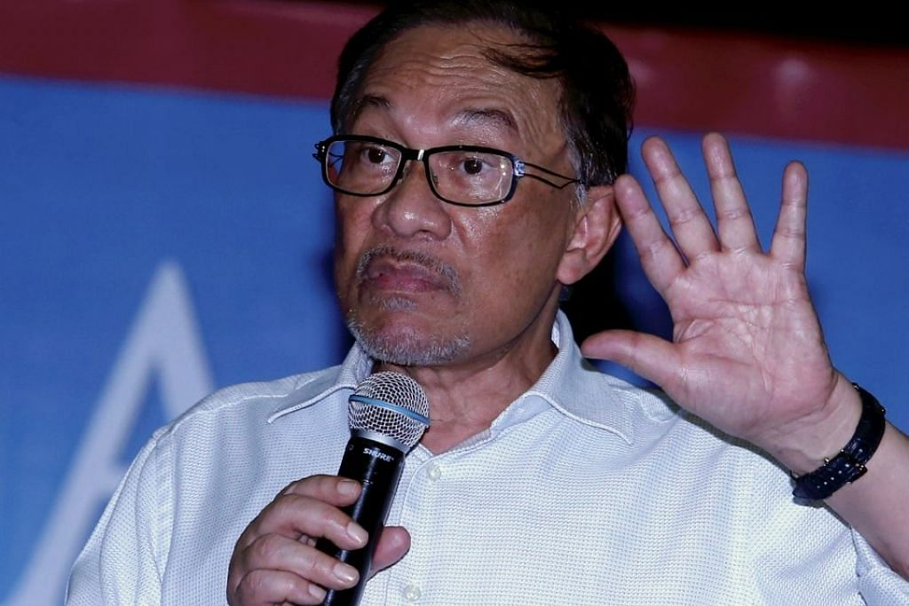 Datuk Seri Anwar Ibrahim berucap pada program Bicara Maal Hijrah di Kompleks Warisan Sultan Abu Bakar, Johor Baru pada 14 September 2018.
