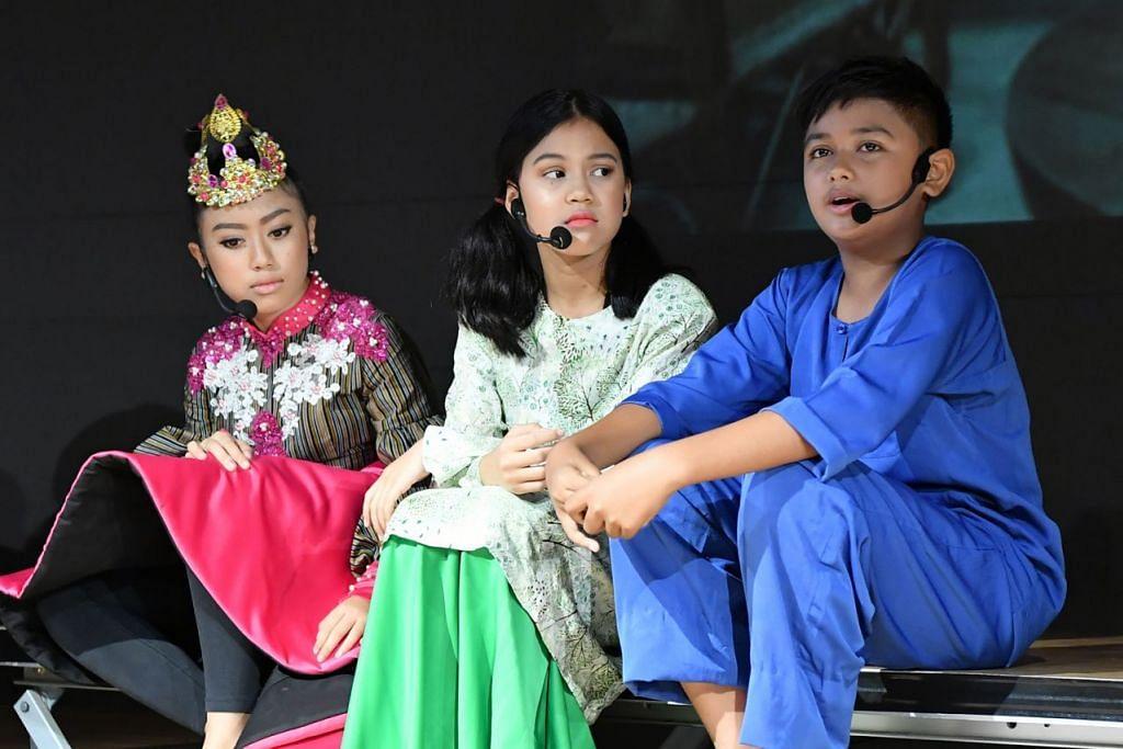 YAKIN BERBAHASA MELAYU: Pelakon cilik pementasan 'Harapan Irdina' menggunakan bahasa Melayu ringkas yang boleh digunakan dalam kehidupan harian. - Foto KELAB MASYARAKAT KEAT HONG