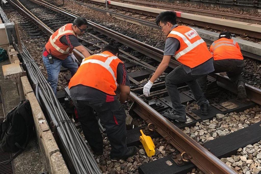 DISENGGARA: Tujuh stesen MRT di Laluan Timur-Barat (EWL) akan ditutup lebih awal bagi kerja-kerja penyelenggaraan bulan depan. - Foto fail
