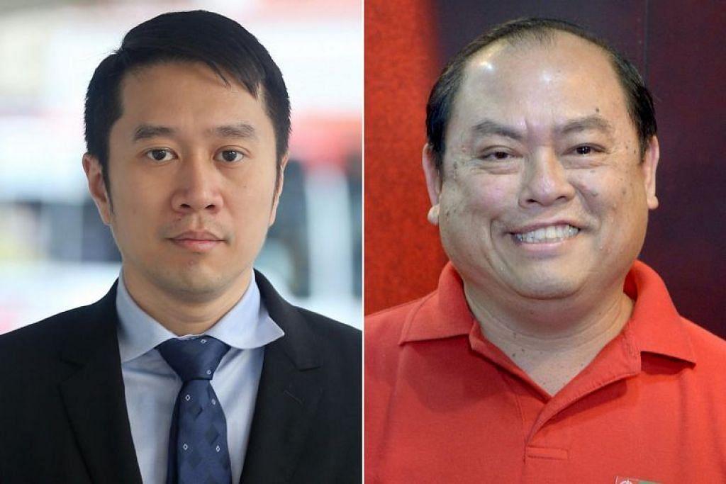 MENGHINA MAHKAMAH: Aktivis sivil Jolovan Wham (kiri) dan ahli SDP John Tan didapati bersalah hina mahkamah.
