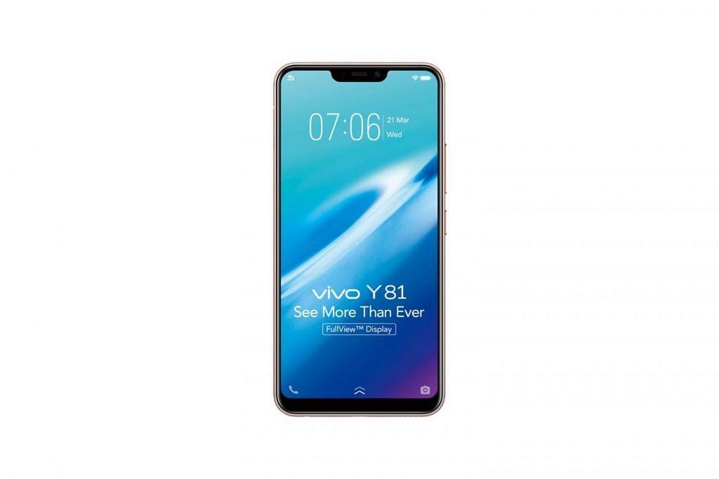 TELEFON SERBA BOLEH: Telefon bijak Y81 keluaran Vivo antara lain dilengkapi dengan ciri pengesan wajah yang boleh digunakan untuk menghidupkan telefon dengan pantas. - Foto VIVO