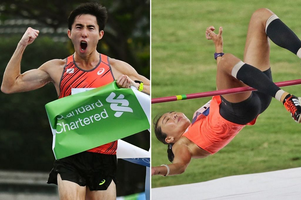 JADI CONTOH: Michelle Sng (kanan) dan Soh Rui Yong adalah antara dua atlit yang terus bertanding dan menunjukkan puncak prestasi yang menggalakkan. - Foto BH oleh KEVIN LIM, fail