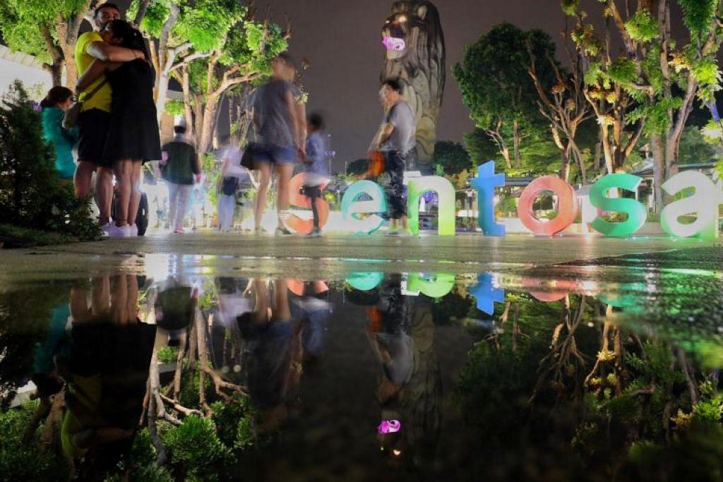 Terdapat perancangan membentuk semula pulau Sentosa untuk menyediakan lebih banyak ruang bagi tarikan dan pelaburan. FOTO: LIANHE ZAOBAO